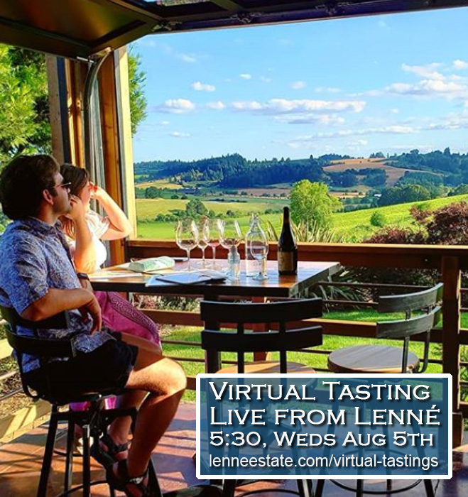 Virtual Tasting, Wednesday August 5th, at 5:30pm